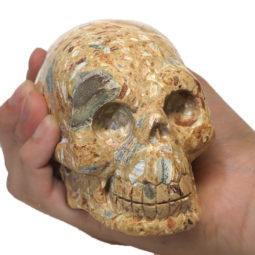 Natural Crystal Jasper Hand Carved Skull DJ1463 | Himalayan Salt Factory