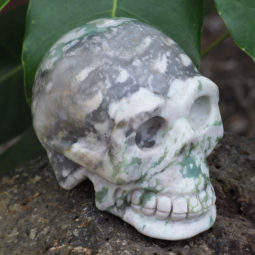 Natural Crystal Jasper Hand Carved Skull DJ1465 | Himalayan Salt Factory