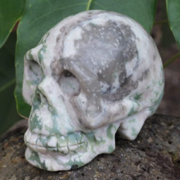 Natural Crystal Jasper Hand Carved Skull DJ1467 | Himalayan Salt Factory