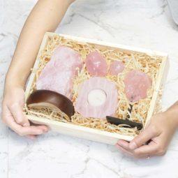 Rose Quartz Gift Set | Himalayan Salt Factory