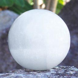 Selenite Sphere Lamp (No Base) | Himalayan Salt Factory
