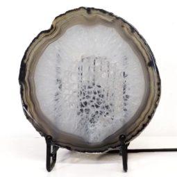 Natural Sliced Brazilian Crystal Agate Lamp S767   Himalayan Salt Factory