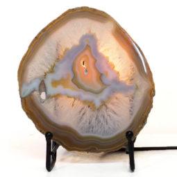 Natural Sliced Brazilian Crystal Agate Lamp S769 | Himalayan Salt Factory