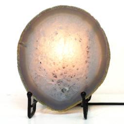 Natural Sliced Brazilian Crystal Agate Lamp S775 | Himalayan Salt Factory