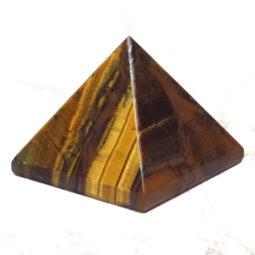 Tiger Eye Pyramid - Small   Himalayan Salt Factory