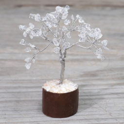 Clear Quartz Mini Gemstone Tree With Timber Base   Himalayan Salt Factory
