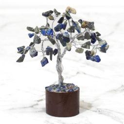 Sodalite Mini Gemstone Tree With Timber Base | Himalayan Salt Factory