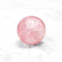 0.2kg Rose Quart Polished Sphere   Himalayan Salt Factory