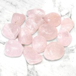 500g Rose Quartz Tumbled Stone Parcel | Himalayan Salt Factory