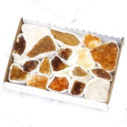 Citrine Clusters Tray - Small | Himalayan Salt Factory