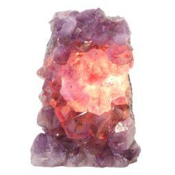 Natural Amethyst Crystal Lamp DS465-2 | Himalayan Salt Factory