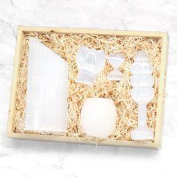 Selenite Crystal Gift Set - Lipstick | Himalayan Salt Factory
