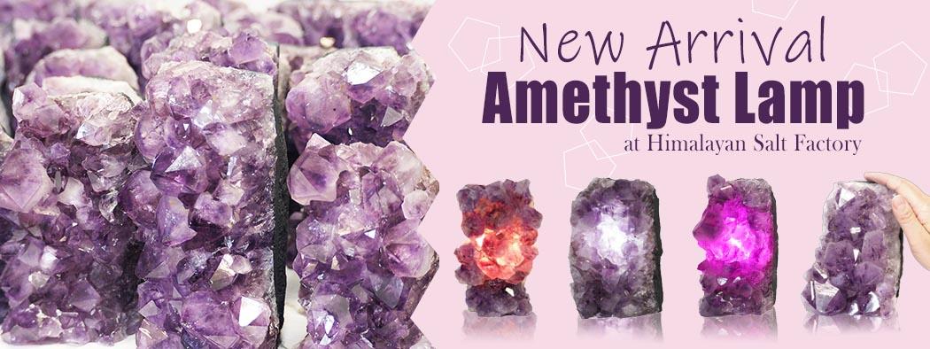 Amethyst Lamp   Himalayan Salt Factory