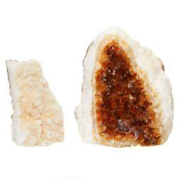 Citrine Crystal Geode Specimen Set 2 Pieces P141 | Himalayan Salt Factory