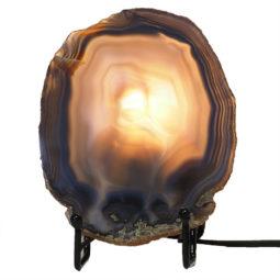 Natural Sliced Brazilian Crystal Agate Lamp J1651 | Himalayan Salt Factory