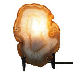 Natural Sliced Brazilian Crystal Agate Lamp J1656 | Himalayan Salt Factory