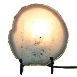 Natural Sliced Brazilian Crystal Agate Lamp J1658 | Himalayan Salt Factory