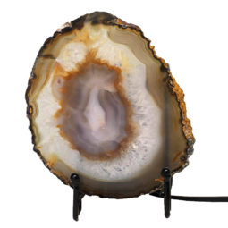 Natural Sliced Brazilian Crystal Agate Lamp J1663 | Himalayan Salt Factory