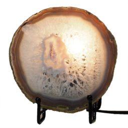 Natural Sliced Brazilian Crystal Agate Lamp J1670 | Himalayan Salt Factory