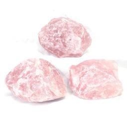 Rose Quartz Medium Rough Set 3 | Himalayan Salt Factory
