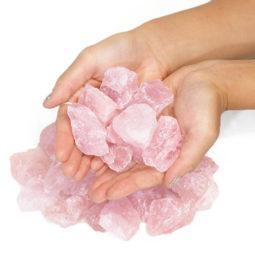 1kg Rose Quartz Small Rough Parcel | Himalayan Salt Factory
