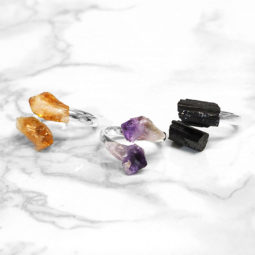 Rough Crystal Rings Set 3 - BRRRR | Himalayan Salt Factory