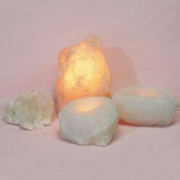 1.8kg Rose Quartz Crystal Lamp Set 4 pieces S392   Himalayan Salt Factory