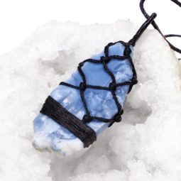 Natural Blue Opal Netted Necklace P007   Himalayan Salt Factory