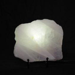 Natural Sliced Rose Quartz Crystal Lamp CF 829-1   Himalayan Salt Factory