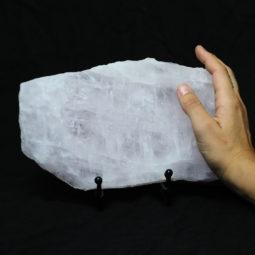 Natural Sliced Rose Quartz Crystal Lamp CF 831-1   Himalayan Salt Factory