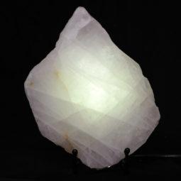 Natural Sliced Rose Quartz Crystal Lamp CF 833-1   Himalayan Salt Factory