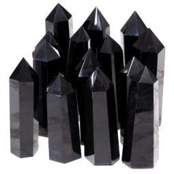 Obsidian Terminated Point | Himalayan Salt Factory