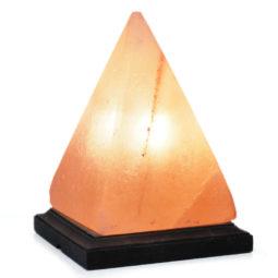 Pyramid Salt Lamp - Timber Base | Himalayan Salt Factory