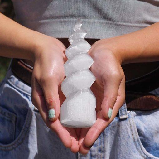 Selenite Spiral   Himalayan Salt Factory