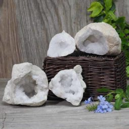Natural Calcite Geode Pair – 2 Small Geodes Set N461 | Himalayan Salt Factory