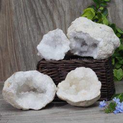 Natural Calcite Geode Pair – 2 Small Geodes Set N463 | Himalayan Salt Factory