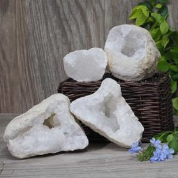 Natural Calcite Geode Pair – 2 Small Geodes Set N465 | Himalayan Salt Factory