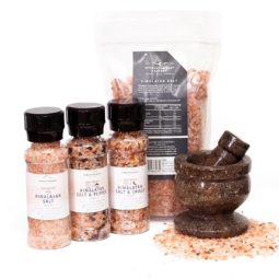 Ancient Fossil Mortar and Pestle Kitchen Pack | Himalayan Salt Factory