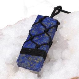 Natural Lapis Lazuli Netted Necklace N003 | Himalayan Salt Factory
