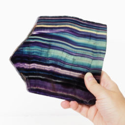 Natural Rainbow Fluorite Polished Slab Plate DS794   Himalayan Salt Factory