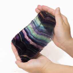 Natural Rainbow Fluorite Polished Slab Plate DS795   Himalayan Salt Factory