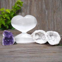 Selenite & Amethyst Crystal Mini Gift Pack   Himalayan Salt Factory