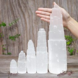 Selenite Tower Family Pack | Himalayan Salt Factory