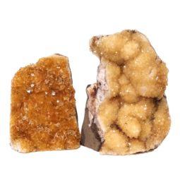 Citrine Polished Crystal Geode Specimen Set 3 Pieces DN228 | Himalayan Salt Factory