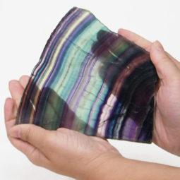 Natural Rainbow Fluorite Polished Slab Plate DS832   Himalayan Salt Factory