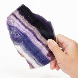Natural Rainbow Fluorite Polished Slab Plate DS833   Himalayan Salt Factory