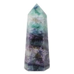Natural Rainbow Fluorite Terminated Point - Large DS840   Himalayan Salt Factory