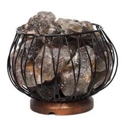 Smoky Quartz Rough Amore Lamp | Himalayan Salt Factory