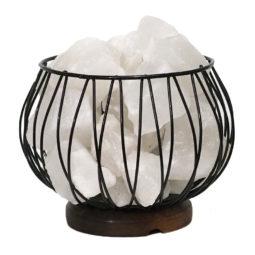 White Himalayan Salt Chunks Amore Lamp (12V - 12W) | Himalayan Salt Factory