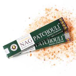 Golden Nag Masala Incense - Patchouli   Himalayan Salt Factory